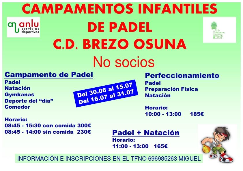 CAMPAMENTOS INFANTILES DE PADEL NO SOCIOS_001